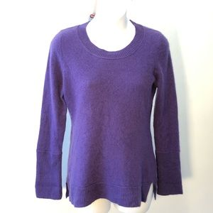 KANAR 100% Cashmere 2 ply purple sweater